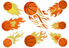 basketball on fire free vector download free vector art stock