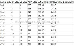 shoe size chart india vs uk uk size chart