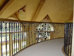 custom made wrought iron stair and bridge railing by rising sun