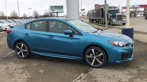 subaru green 2017 all new 2017 subaru impreza sedan in island blue pearl youtube