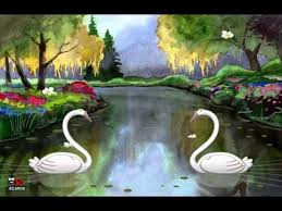 cool free i you swans animated greeting ecard