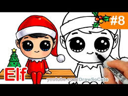 how to draw an elf on the shelf easy and cute youtube