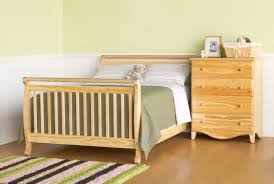 Convertible Crib Full Size Bed by Davinci Emily 4 In 1 Convertible Baby Crib In Natural W Toddler