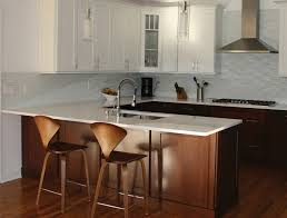 Kitchen Islands With Sink And Seating by Sink Peninsula White Maple Cabinets 1024 778 Jpg To Kitchen With