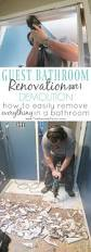guest bathroom renovation part 1 demolition baseboard tile