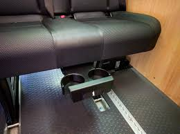 Sprinter Bench Seat Removing The Cup Holder From Underneath The Passenger Bench Seat