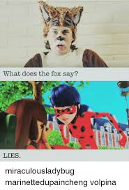 What Did The Fox Say Meme - what does the fox say lies miraculousladybug marinettedupaincheng