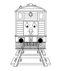 kids thomas train coloring pages toby cartoon coloring pages
