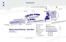 Illinois State Campus Map by Maps And Directions Quad Cities Campus Western Illinois University