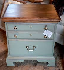 moss green chalk painted end table crabapple barn painted