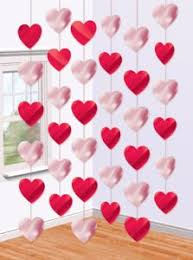 valentines decorations 3 d heart paper garlands easy diy decorations photo