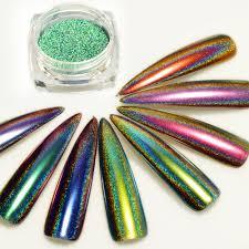 aliexpress com buy 1box peacock holographic chameleon nail