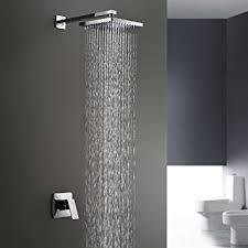 Bathroom Shower Handles Lightinthebox Chrome Wall Mount Bathroom Bath Shower System Fixed