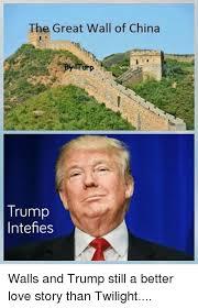 Meme Wall - the great wall of china trump intefies walls and trump still a