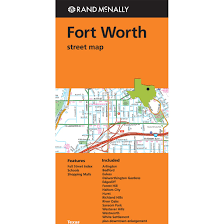 Ft Worth Map Folded Map Fort Worth Street Map