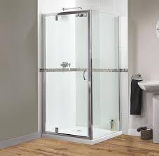 shine pivot shower door 760mm polished silver fen0895aqu