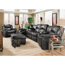 Loveseats Recliners Flick Home Theater 2 Recliners 2 Consoles U0026 Reclining Loveseat
