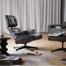 Manhattan Home Design Eames Review Chair White Ash Lounge Chair Ottoman Hivemodern Com Eames Replica