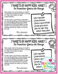 7 habits of happy kids flyers free printable from the fabulous