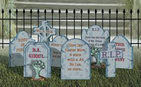halloween tombstone phrases invite for party