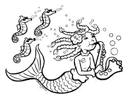 mermaid coloring pages coloringsuite com
