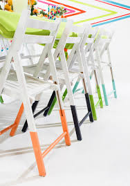 Old Metal Folding Chairs That Fold In 10 Ways To Update Folding Chairs Brit Co