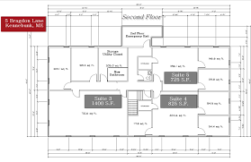 Floor Plans 3000 Square Feet by 5 Bragdon Lane Kennebunk Maine Office Space For Lease In Kennebunk