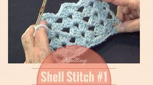 crochet shell stitch 1 open shell lace stitch pattern youtube