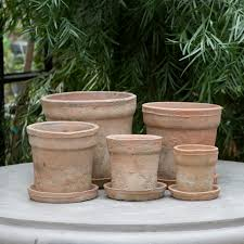 Planters And Pots Earth Fired Clay Wide Rim Pot Terracotta Old Terrain