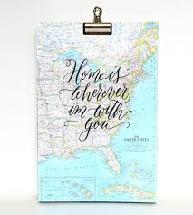 Eastern Us Map Home Is Wherever I U0027m With You Calligraphy Map Art Print Features
