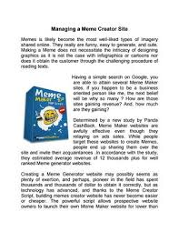 Meme Generator Script - managing a meme creator site by robert harvey issuu