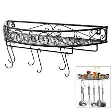 wall mounted metal shelving kitchen storage shelves mygift