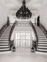 Grand Foyer Foyer Design Juniper Drive A Grand Double Staircase With Custom