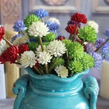 fake flowers for home decor 6 heads 30cm artificial succulents plants otus desert plastic fake