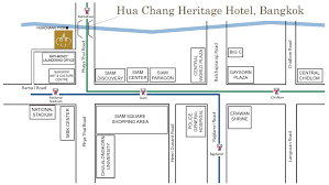 Map Walking Distance Map U0026 Location Hua Chang Heritage Hotel The Thai Contemporary