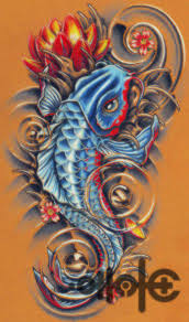 blue koi fish tattoo designs tattoo fantastic