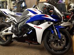 honda cbr 600 2012 honda cbr 600 rr 2012 upgraded sports bike blue and white with