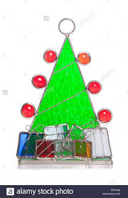 christmas tree stained glass ornament cutout stock photo royalty