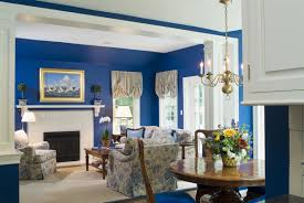 living room decorating with creamy white and grayish blue paint