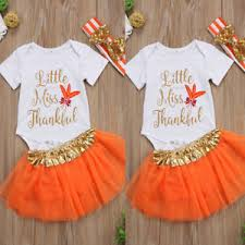 us stock newborn baby romper mini tutu headband thanksgiving