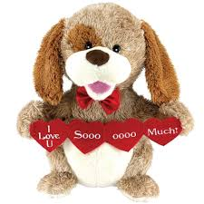 valentines day stuffed animals animated puppy plush dog stuffed animal sings