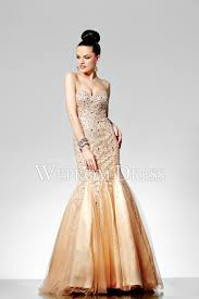 champagne color mermaid tulle long evening dress