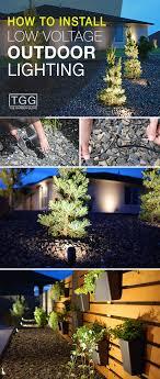 installing low voltage landscape lighting how to install low voltage outdoor lighting the garden glove