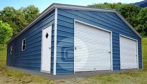 2 car garage 2 car garage vertical roof two car metal garage