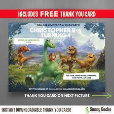 disney the good dinosaur 7x5 in birthday party invitation with