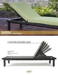 dakoda cushion chaise bench mallin casual furniture