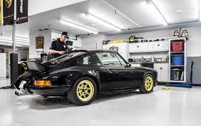 gold porsche 911 backdated porsche 911 gets detailed gold vinyl side stripes