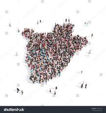 Burundi Map People Group Shape Map Burundi Stock Illustration 531045973