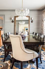 Neutral Dining Rooms 2017 Grasscloth Wallpaper Mirrors For Dining Room Dining Room Traditional With Gray