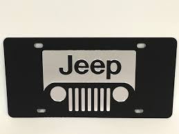 jeep front grill jeep front grill logo stainless steel license plate custom creations